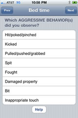 Meltdowns app example 3